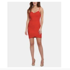 Guess Sweetheart Spaghetti-Strap Scuba Crepe Dress